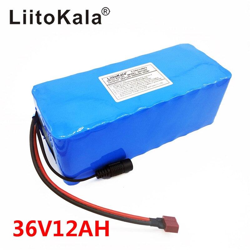 LiitoKala 36 V 12AH batterie de vélo électrique intégrée dans 20A BMS batterie au Lithium 36 volts avec 2A Charge batterie Ebike - 6