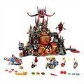 1244 pcs nexoees cavaleiro axl jestros vulcão covil combinação narve blocos de construção kits brinquedos figuras compatível nexus
