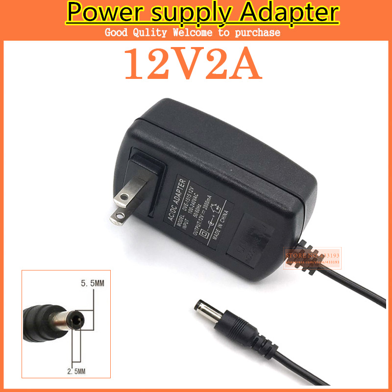 US $3 5 5% OFF|1PCS 12V2A AC 100V 240V Converter Adapter DC 12V 2A 2000mA  Power Supply US Plug 5 5mm x 2 1 2 5mm for LED CCTV -in AC/DC Adapters from