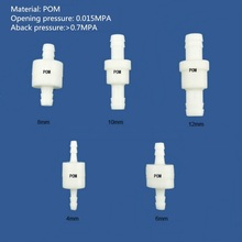 High pressure aback check valve Plastic liquid gas Check Non return No  Size 4mm,,6mm,8mm,10mm,12mm