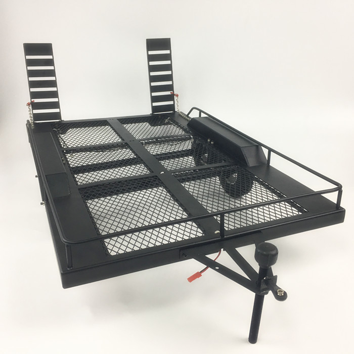 Bouble Axis Heavy Duty All Metal Trailer for 1 10 Rc Rock Crawler Truck Traxxas Trx4