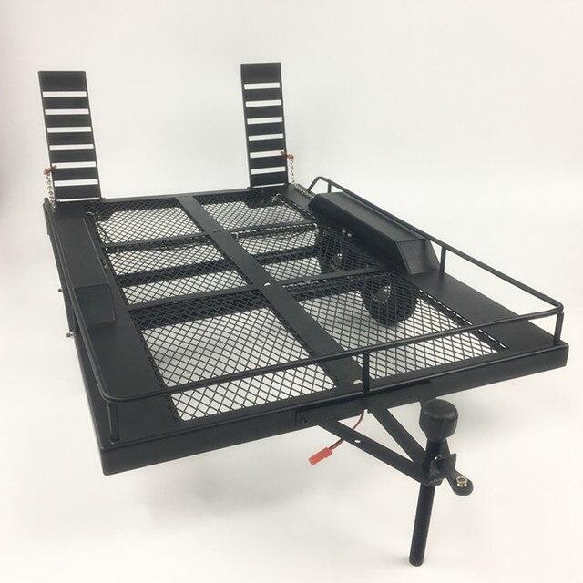 Bouble軸ヘビーデューティすべてのメタルトレーラー 1/10 rcロッククローラートラックトラクサスTrx4 軸Scx10 90046 90047 Cc01 d90 D110