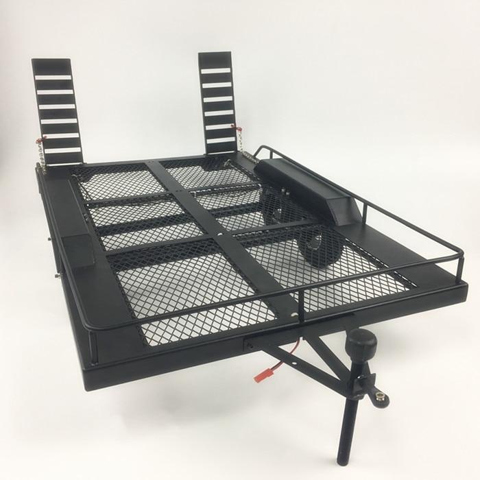 Bouble Assi Heavy Duty All Metal Rimorchio per 1/10 Rc Rock Crawler Camion Traxxas Trx4 Assiale Scx10 90046 90047 Cc01 d90 D110