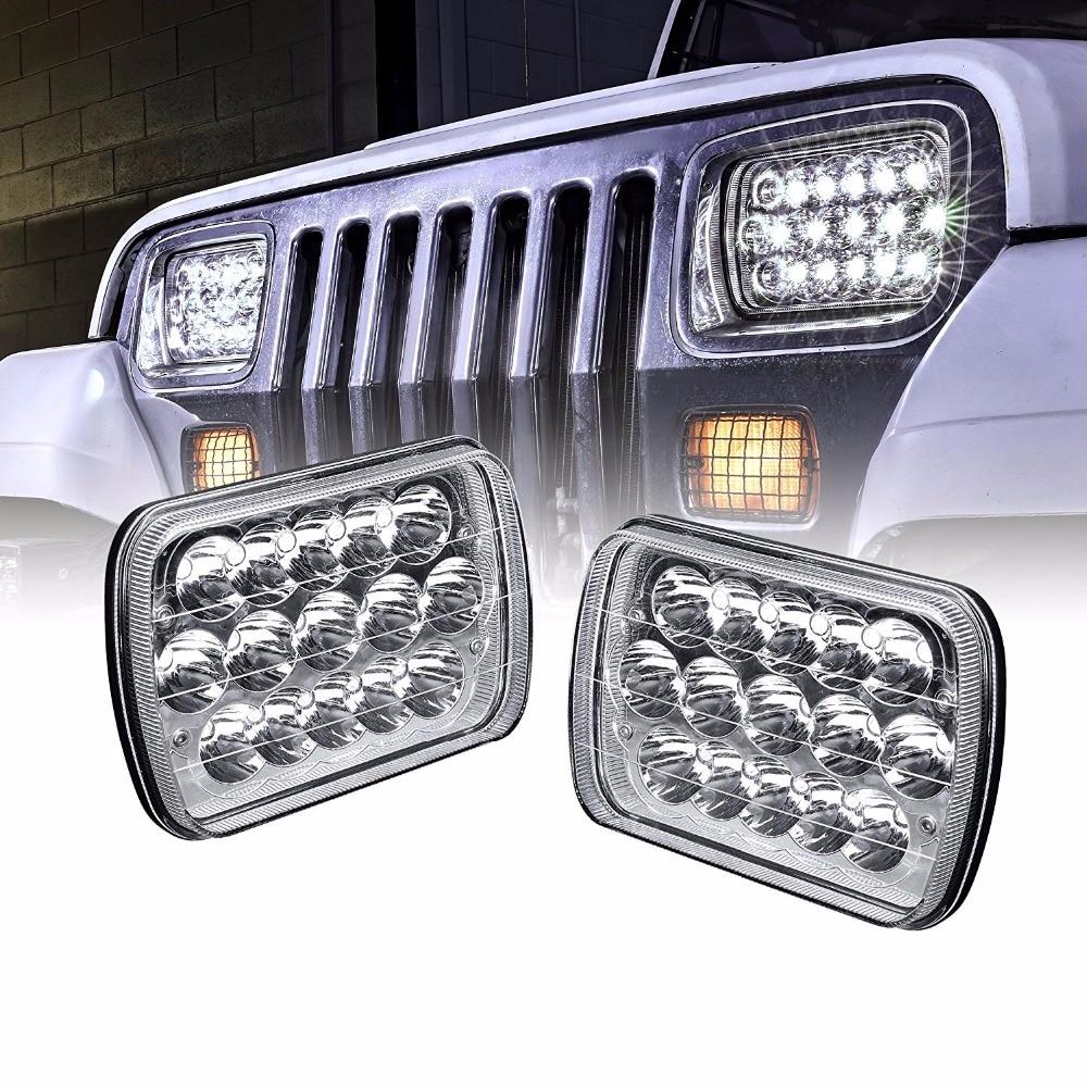 5x7 inch Led Headlights Rectangle 7x6 Led Headlights Pair 6054 Led Headlight Hi/Low Led Sealed Beam Chevy For Jeep Wrangler pair 7x6inch led headlights 27450c of