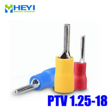 Good Quality 100pcs/lot PTV1.25-18 Red AWG22-16 Copper Insulating Crimp Terminals Connectors Pin Terminal(China)