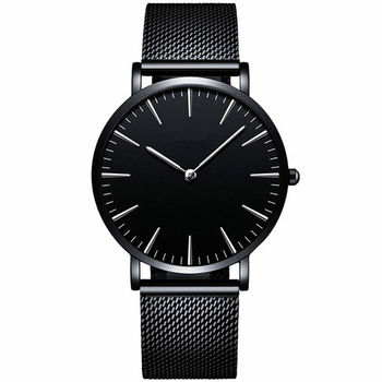 Men Full Steel Quartz Watch Mens Fashion Hot Watches Black Gold Silver Male Relojes masculino drop shipping Analog wristwatches 1