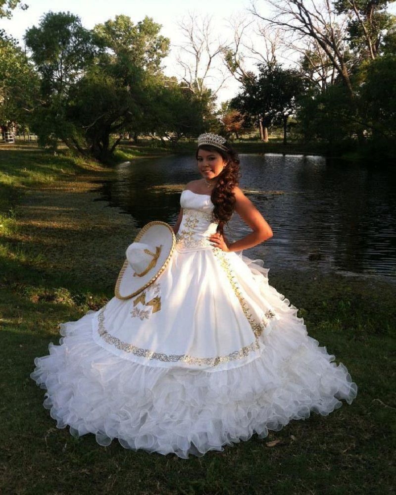 Popular Gold Strapless Quinceanera Dress-Buy Cheap Gold Strapless ...