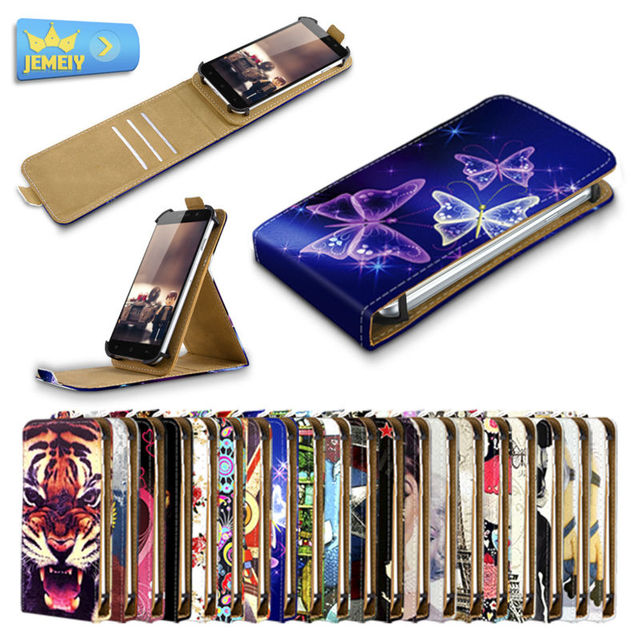 Universal Leather Phone Cases For INew V8 Inew L1 Inew L4/Mpie S960 Printed Stand Flip Case For Inew Phone Cover Bag Large size