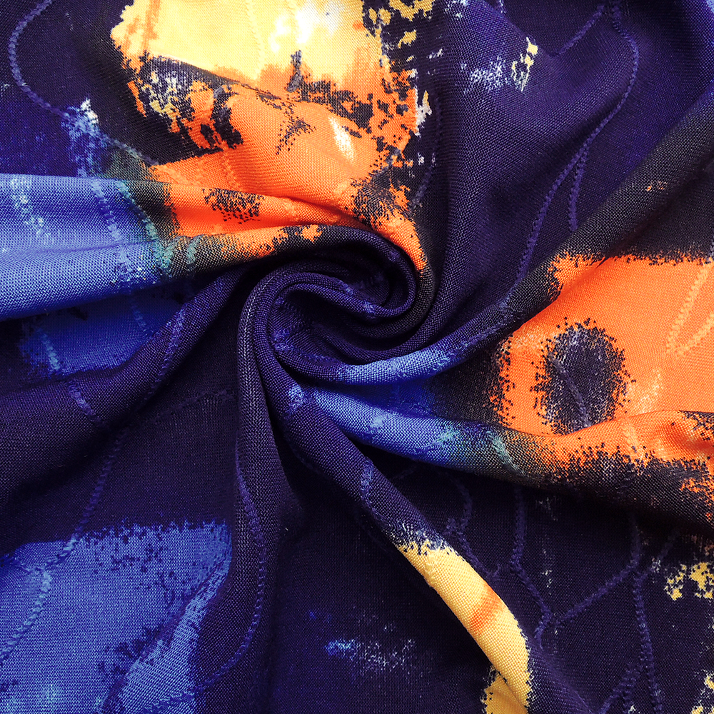 Image 5 - Womens Tops and Blouses Tie Dye Bohemian Print Layered Chiffon Feminine Blouses Summer Short Sleeve Tunic H227Blouses & Shirts   -