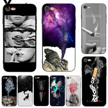Yinuoda For iphone 7 6 X Case Weed Cigarette Smoking Dominant Protector phone Case for iPhone X 8 7 6 6S Plus X 5 XS XR XSMAX(China)