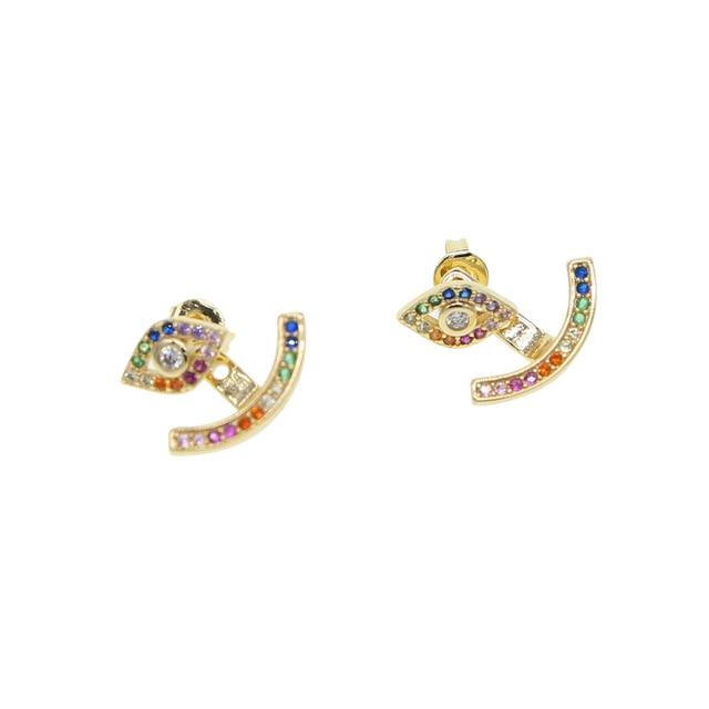 2018 новые очаровательные женские Разноцветные серьги гвоздики