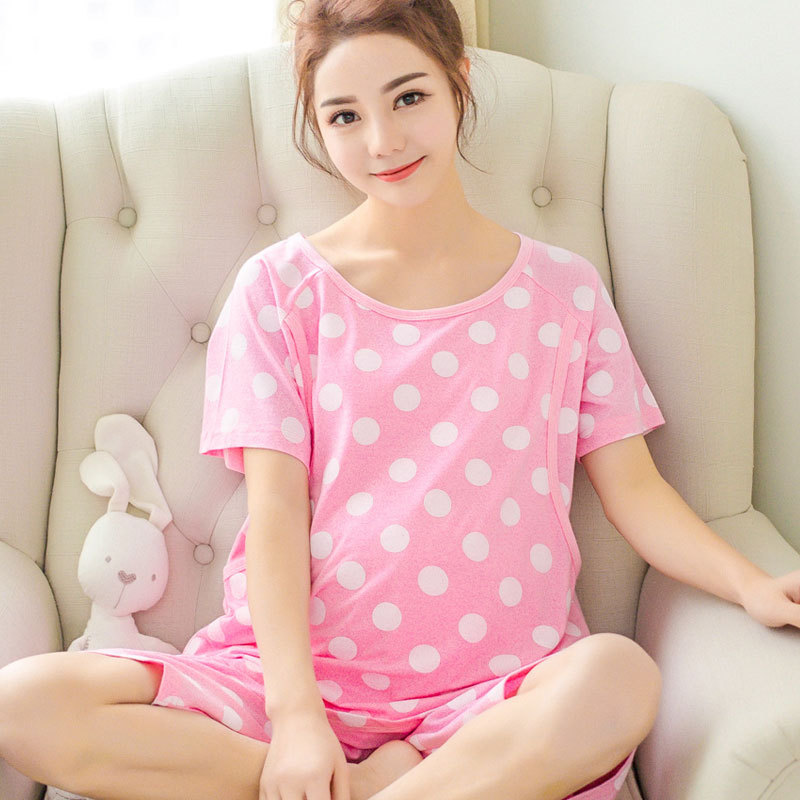 e73a90dee ... 98eb36b579 Soft Cotton Maternity Sleepwear Maternity Nursing Pajamas  Pregnant Women Sleepwear Cartoon Bear Maternity Nightgown Set ...