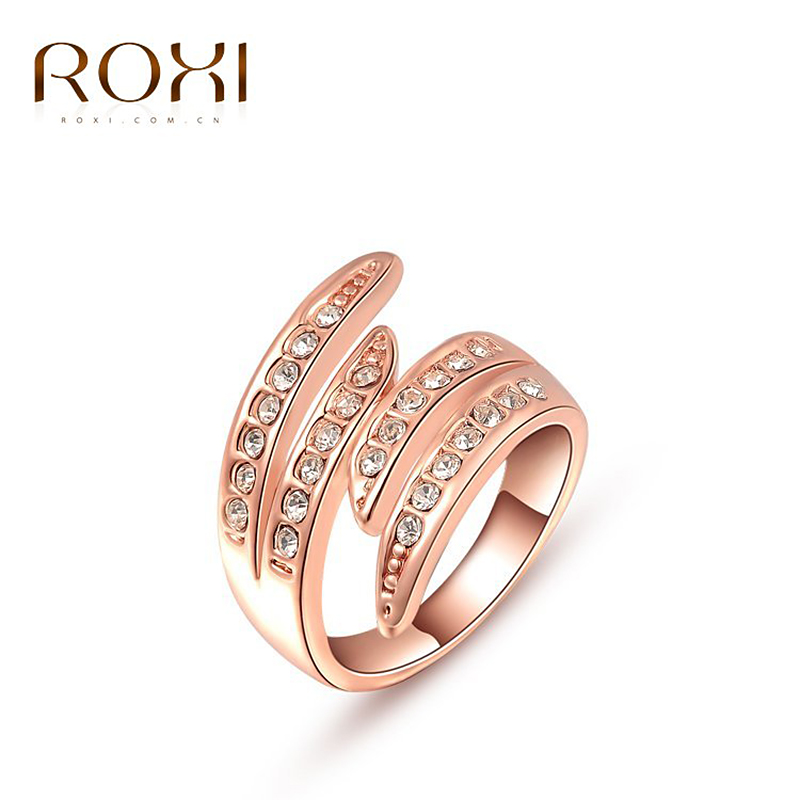 ROXI Christmas Gift Rose Gold/White Gold Plated Ring Austrian Crystals Ring Nickle Free Antiallergic Factory Prices
