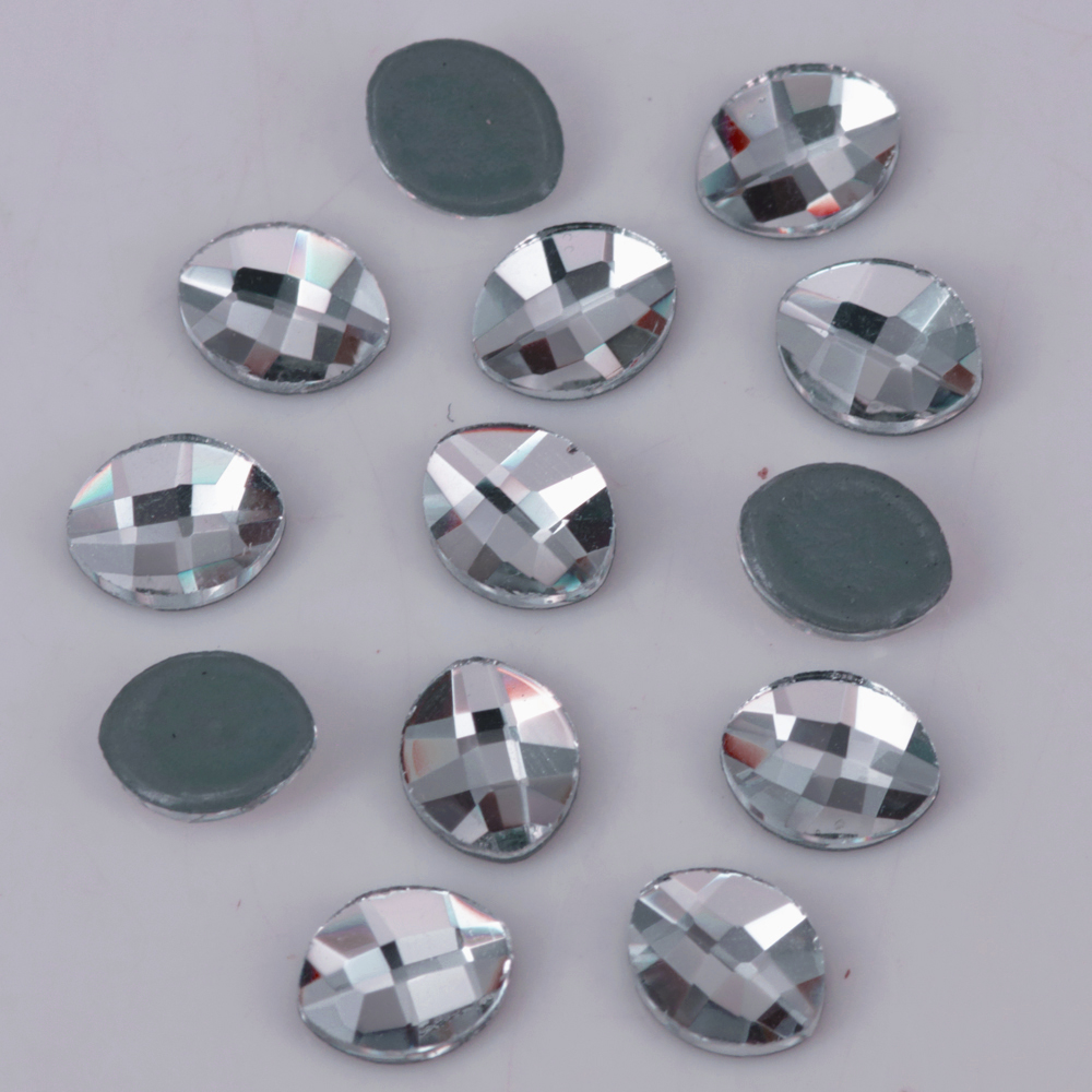 High Quality 6x4.8mm Crystal Clear Pure Leaf Flat Back Hotfix Rhinestones Iron On Crystals Home & Garden