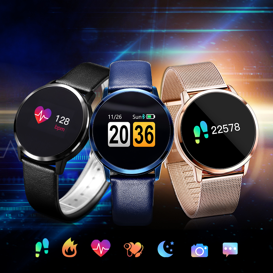 iWOWNfit Smart Watch Blood Pressure Monitor Fitness Bracelet Heart Rate IP67 Waterproof Smart Clock for IOS Android Phone