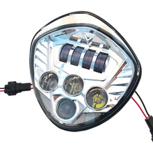 Motorcycle Parts LED Motorcycle Headlight 12V Sliver Bezel For Harley Motorcycle accessories Victory LED headlight kit