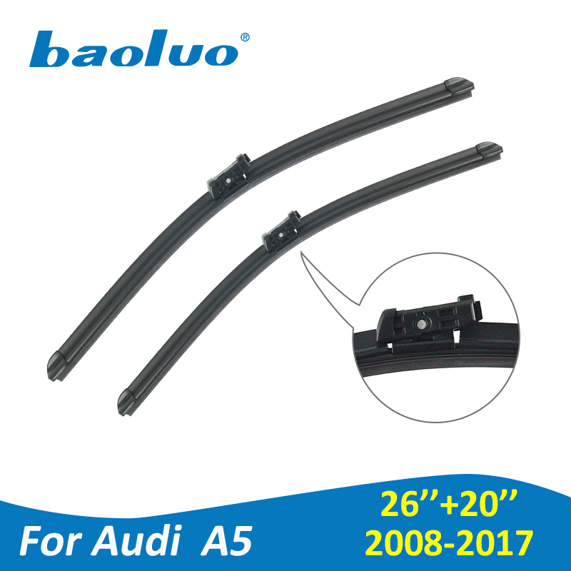 baoluo windshield wiper blades for audi a5 coupe cabriolet sportback 2008 2017 soft natural