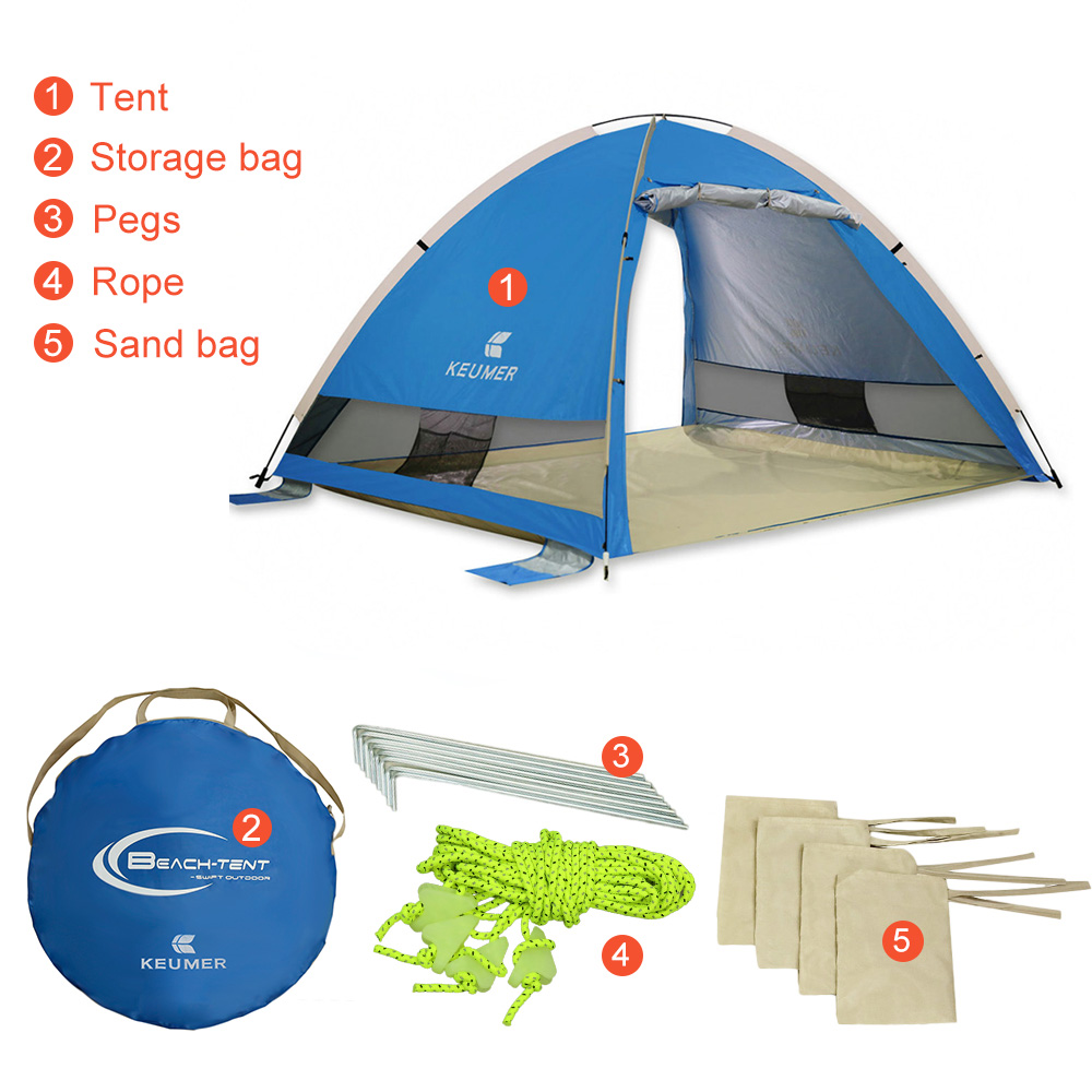 3 4 People Outdoor Automatic Tents Pop Up Waterproof Camping Hiking Tent Uv Protection Tent Waterproof
