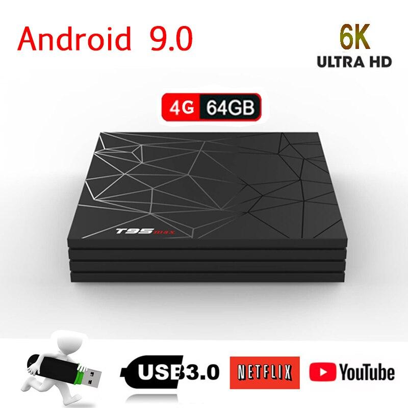 IPTV Android 9.0 TV Box 4GB 64GB T95 Max Smart TV BOX H6 Quad Core 6K HDR 2.4GHz Wifi USB 3. 0 Google Player T95MAX Set Top BoxIPTV Android 9.0 TV Box 4GB 64GB T95 Max Smart TV BOX H6 Quad Core 6K HDR 2.4GHz Wifi USB 3. 0 Google Player T95MAX Set Top Box