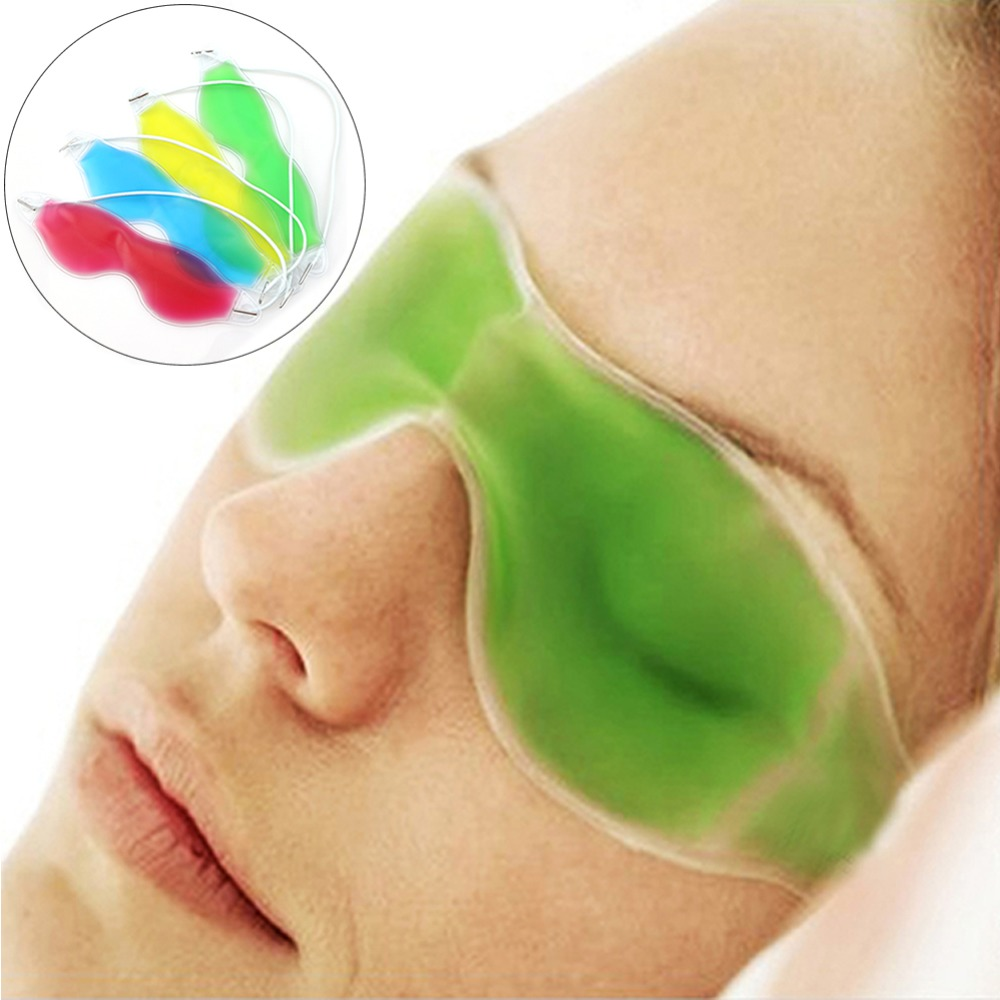 New Arriv Gel Eye Mask Cold Pack Warm Hot Ice Cool Soothing Tired Eyes Headache Pad