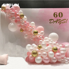 BTRUDI Balloon chain a variety of color and fresh black gold theme for adult birthday party balloon decoration