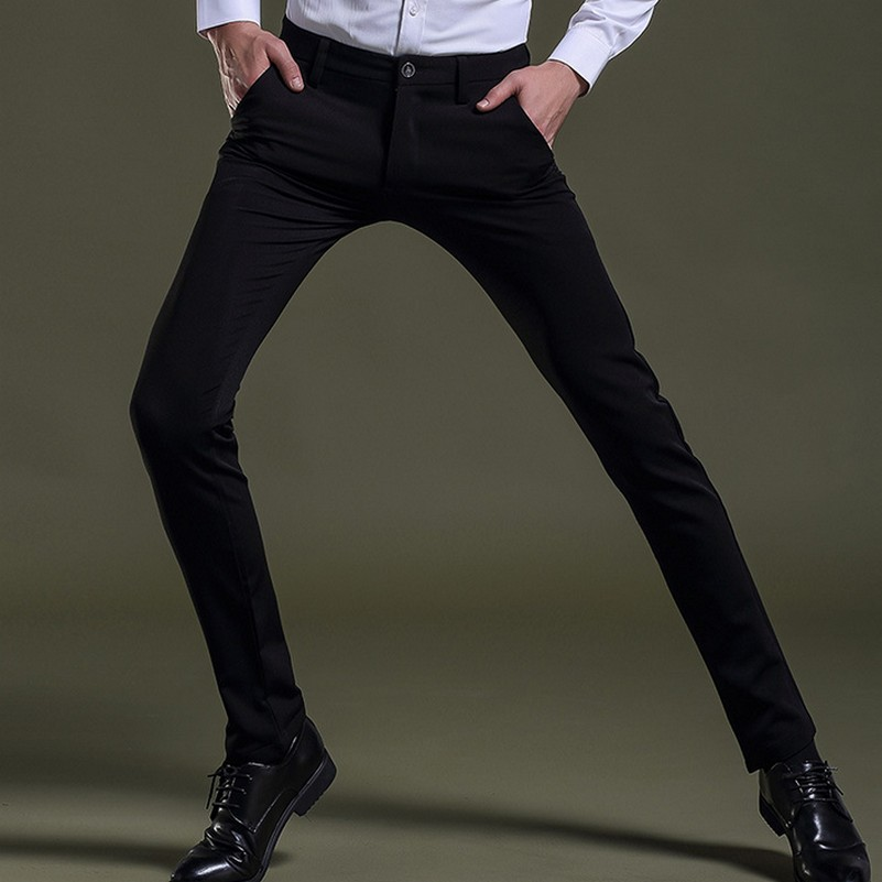 Mens Slim Fit Dress Pants for Business Wedding Party
