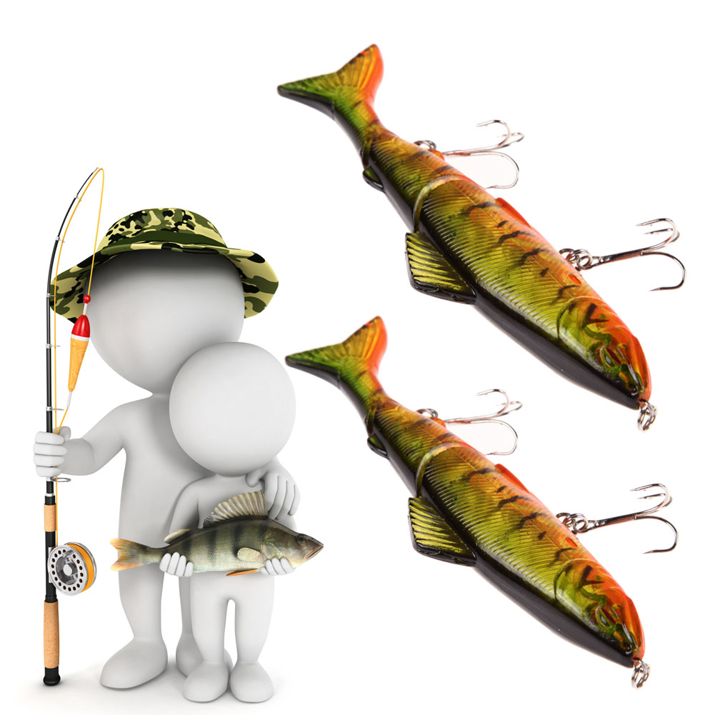 2 Pcs Fishing Lures 12.7CM Spinning Baits Crankbait Assorted Tackle Hooks Steel  Hook Hard Bait Artificial Baits Lures Swim Bait noeby insect bait hard lures crankbait treble hook 1 pcs 28mm 2g fishing tackle lure