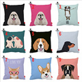 Boxer Corgi Dachshund Cocker Bulldog Dog CatPrint Custom Car Cushion Cover Decorative Pillowcase Pillow Case Sofa Home Decor