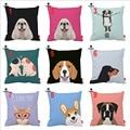 Boxer Corgi Dachshund Cocker Bulldog Dog CatPrint Custom Car Cushion Cover Decorative Pillowcase Pillow Case Sofa Home Decor
