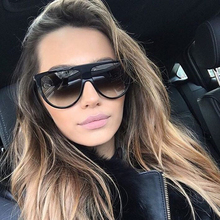 vintage sunglasses women brand designer flat top