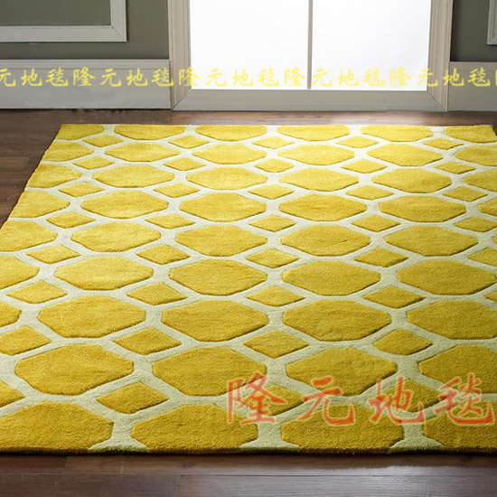 WINLIFE The Latest European Fashion Carpets, The Sitting Room The Bedroom Rug, Yellow Classical Acrylic Mat.