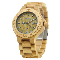 BEWELL Fashion Man Luxury Bracelet Brand Wrist Wooden Band Watches Quartz Watched Man Gift Relojes Hombre
