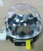 Remote Music Crystal Magic Ball RGB LED Stage Lights With MP3