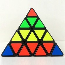 New Shengshou 4x4x4 Triangle Pyramid Pyraminx Puzzle Cube Speed Puzzle PVC Matte Stickers Cubo Magico Educational