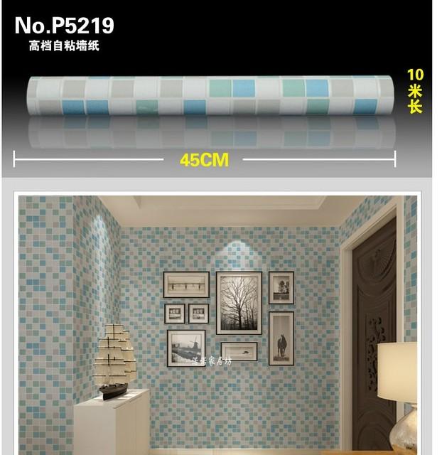 45 cm * 20 Mt PVC Retro nostalgie grid Tapete Badezimmer Wasserdicht ...