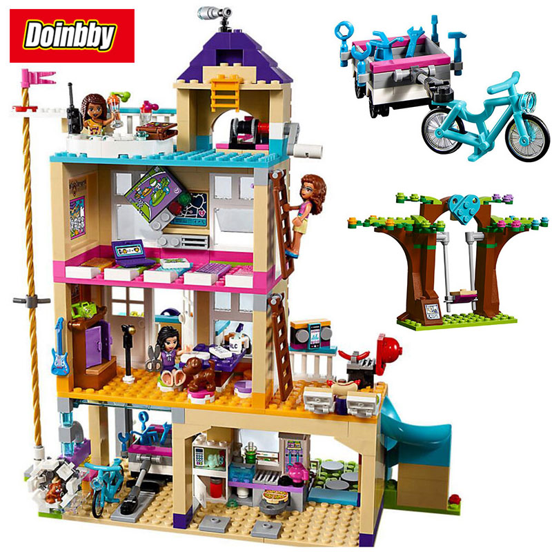 Girl Friends Series Friendship House Heartlake City Building Block Toys Compatible with Legoings Friends 41340 808pcs diy new girls series the friendship house set building blocks bricks friends toys for children compatible legoingly 41340