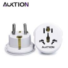 AUKTION 16A Универсальный адаптер для ЕС(Европа), 250 В, AC, зарядное устройство для путешествий, настенная розетка, адаптер для США, Великобритании, Австралии, умный инструмент
