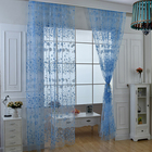 Chic Room Floral Pattern Voile Window Sheer Voile Panel Drapes Curtains For Living Room