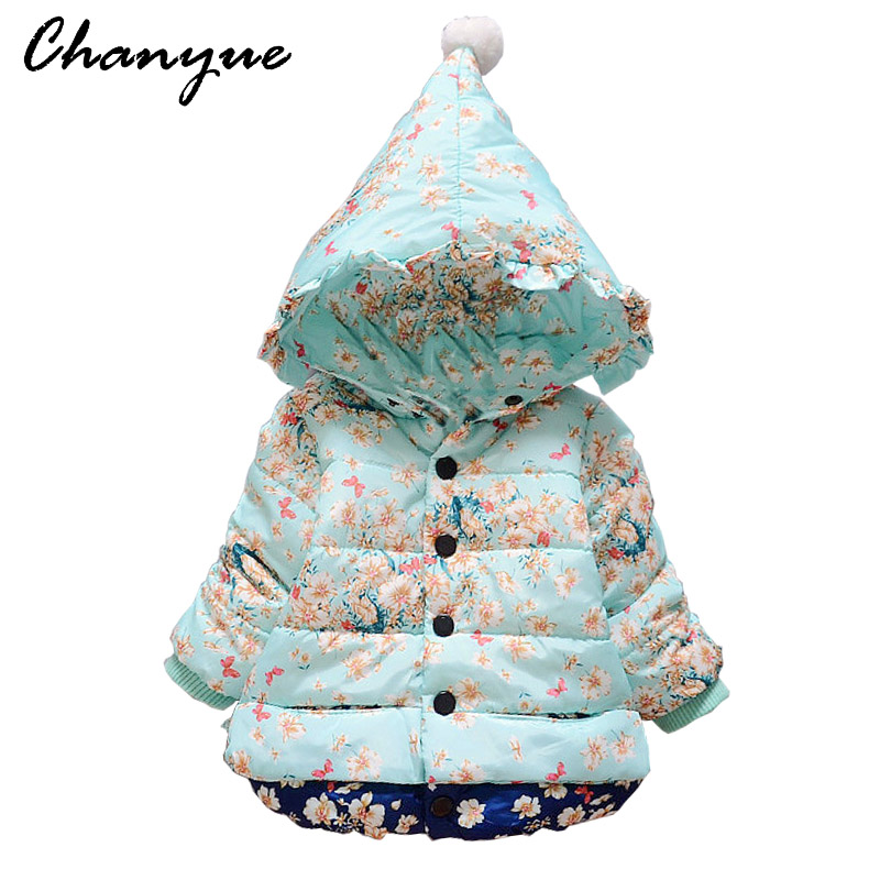 Chanyue Winter Baby Girls Jacket Christmas Warm Cotton-padded Jacket For Girls Coat Kids  Cotton Outerwear Coat Children Clothes children winter coats jacket baby boys warm outerwear thickening outdoors kids snow proof coat parkas cotton padded clothes
