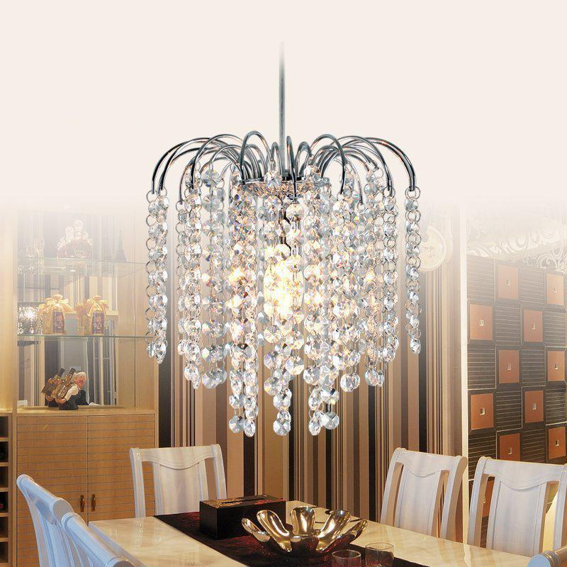 ФОТО LED Pendant Light Fashion Crystal Bedroom lamp Hall Pendant lamps modern crystal lighting LED energy-saving lamps