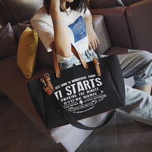 купить Ladies Women Bag European American Style Canvas Fashion Large Capacity Tote Letter Shoulder Messenger Bag Casual Tote Handbag дешево