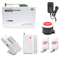 Wireless PIR / Door Sensor Antenna Burglar Alarm Home Alarm System for Home Security GSM Alarms Automatically Make SMS Calls