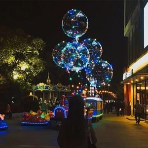 Image 2 - 50 sztuk BoBo balony balon led przeźroczysta bańka balon ślub dekoracje na imprezę urodzinową dzieci dorosłych globos cumpleanos infantiles