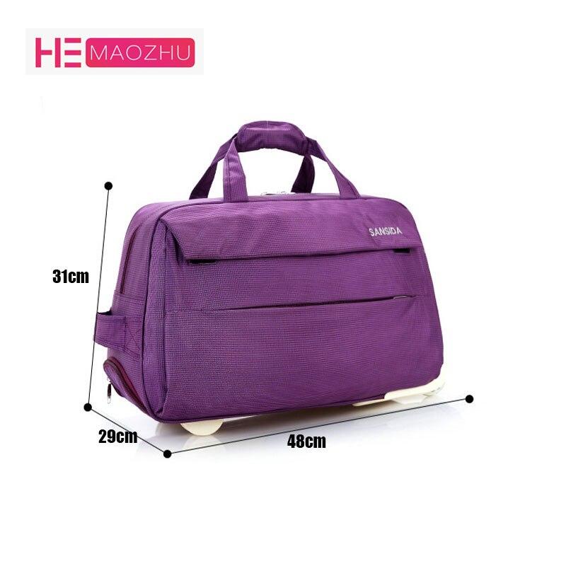 4a23d50e8c6c Купить HEMAOZHU модные Водонепроницаемый Чемодан сумка толщиной Стиль  Rolling чемодан тележка Чемодан Для женщин и Для мужчин Дорожная сумка  чемодан с ко.