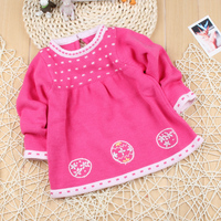 New 2014 Spring Autumn Baby Kids Clothes Child 100 Cotton O Neck Pullover Sweaters Baby Girls