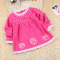 new 2014 spring autumn baby & kids clothes child 100% cotton o-neck pullover sweaters baby girls sweater cute knitting sweater
