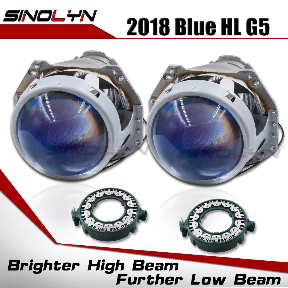 Bi xenon Headlight Lenses HID Projector Upgrade 3 0 For Hella 3R G5 5 Blue Film