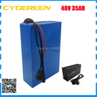 2000W 48V ebike battery 48V 35AH scooter li ion battery 48V 35AH batteries use for samsung 3500mah cell 50A BMS with Charger
