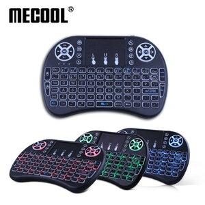 Image 3 - لوحة مفاتيح صغيرة لاسلكية من Mecool i8 لوحة مفاتيح إنجليزية مع لوحة مفاتيح متعددة الوظائف للألعاب وهي لوحة مفاتيح للحاسوب الشخصي HTPC وسامسونج صندوق تلفاز ذكي
