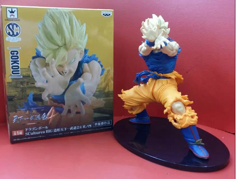 NEW Hot 1Pcs 18cm Dragon Ball Z Super Saiyan KAMEHAMEHA Son Goku Kakarotto PVC Action Figure Toys Christmas Gift Toy With BOX new hot 21cm dragon ball super saiyan 3 son goku kakarotto action figure toys doll collection christmas gift with box sy889